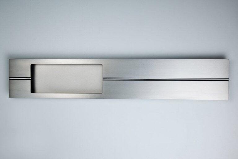 Kunststoff Haustür Türgriff in mattem Silber